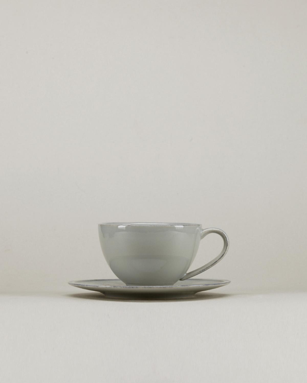 Friso Grey Tea Cup And Saucer Costa Nova A Vida Portuguesa